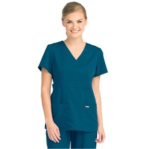 Grey's Anatomy 4153 Women's Mock Wrap Scrub Top
